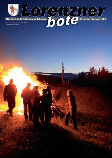 Lorenzner Bote - Ausgabe Juli/August 2009 (3,53 MB)