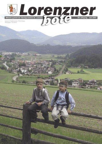 Lorenzner Bote - Ausgabe Juni 2007 (2,79 MB) (0 bytes)