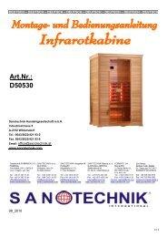 Montage- und Bedienungsanleitung - Sanotechnik