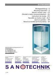 B147888-B8090S Montageanleitung – D Mounting ... - Sanotechnik
