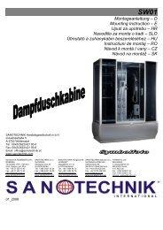 Montageanleitung – D Mounting Instruction – E Uputi ... - Sanotechnik
