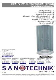 T40W+TS40W+TS4080W+TM40W+TM4080W T40C+ ... - Sanotechnik