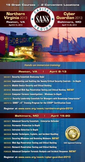Event Brochure - SANS Institute
