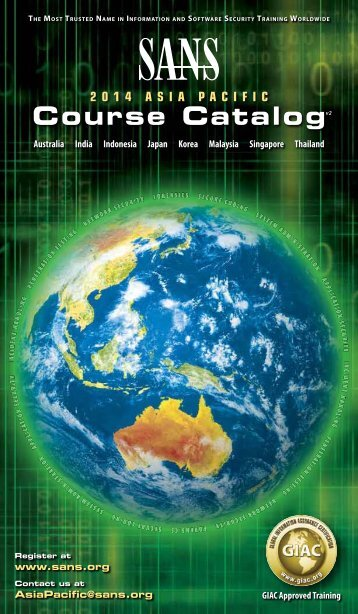 APAC 2014 Course Catalog