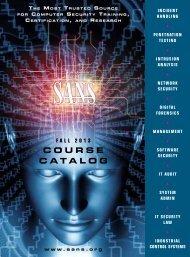 2013 Course Catalog - SANS Institute