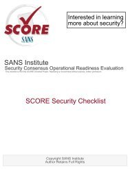 Oracle Advanced Security Network Encryption - SANS Institute
