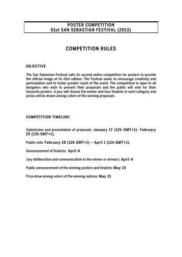 competition rules - Festival Internacional de Cine de San Sebastián