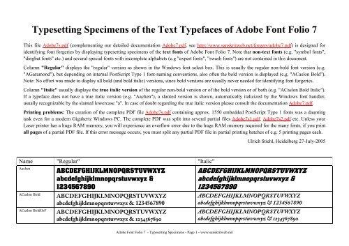 Adobe Font Folio 7 - Sanskrit Web