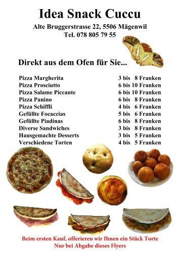 Idea Snack Cuccu Flyer A5 2-Seiten