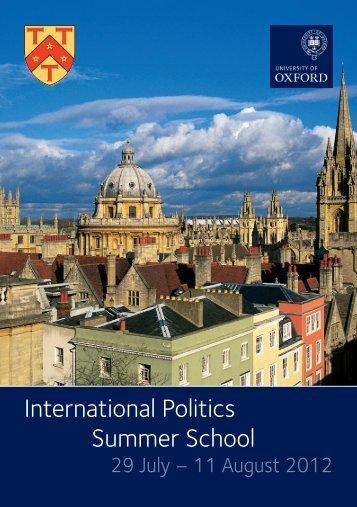 International Politics Summer School - St Antony's College