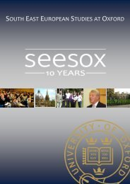 SEESOX 10th Anniversary publication - St Antony's College ...