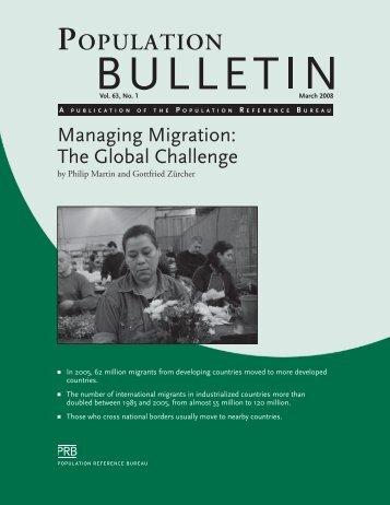 Managing Migration: The Global Challenge, Population Bulletin, Vol ...