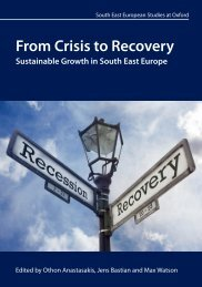 From Crisis to Recovery - St Antony's College - University of Oxford