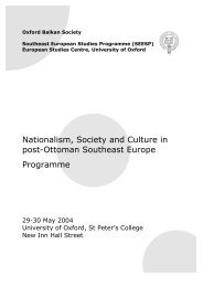Nationalism, Society and Culture in post-Ottoman Southeast Europe ...