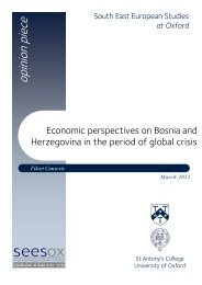 Economic perspectives on Bosnia and Herzegovina in the period of ...