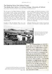 The Palestine Police Oral History Project - St Antony's College ...