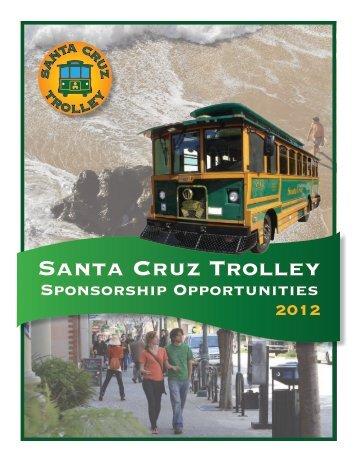 Santa Cruz Beach Trolley Sponsor Brochure (PDF)