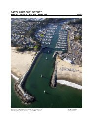 santa cruz port district fiscal year 12 budget report - Santa Cruz Harbor