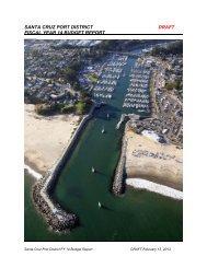 FY 2014 Budget - Santa Cruz Harbor