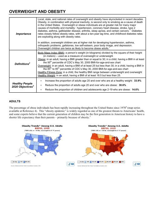 Obesity And Overweight County Of Santa Cruz Health Services