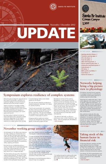 Symposium explores resilience of complex systems - Santa Fe Institute