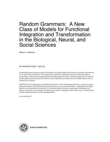 Random Grammars: A New Class of Models for Functional ...