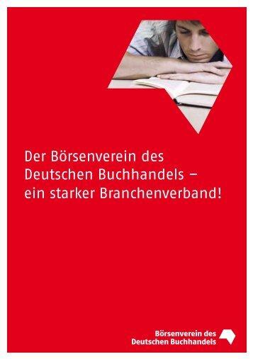 Der Börsenverein des Deutschen Buchhandels – ein starker ...