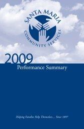 View the 2009 Annual Report - Santa Maria Community Services