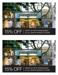 15% OFF GEAR UP WITH PATAGONIA® at our SANTA MONICA ...
