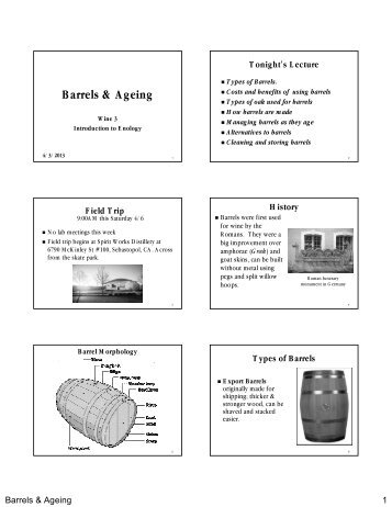 Barrels & Ageing