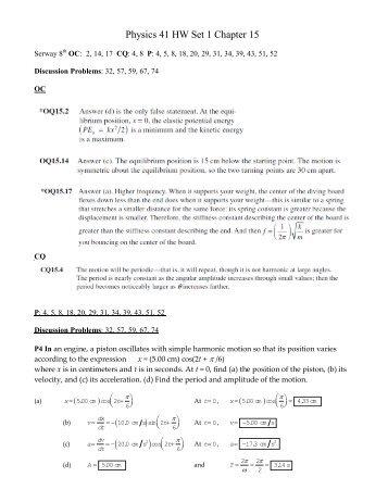 Physics 41 HW Set 1 Chapter 15