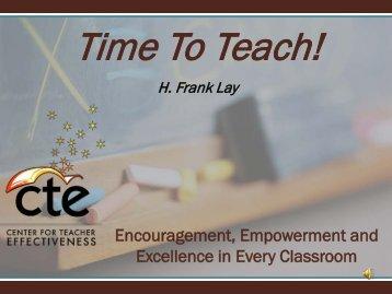 Classroom Management Presentation - Santa Rosa County School ...