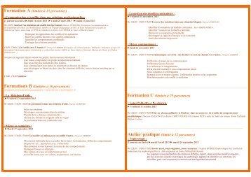 Programme de Formation - Portail Santé Région Centre