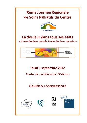 cahier congressiste - Portail Santé Région Centre