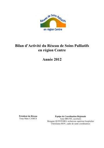 Bilan d'activité régionale 2012 - Portail Santé Région Centre