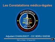 Les Constatations médico-légales