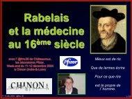 Rabelais et la médecine au 16ème siècle