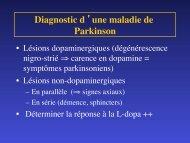 Diagnostic d 'une maladie de Parkinson
