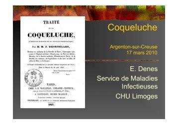 Coqueluche - Portail Santé Région Centre