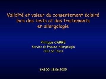 Consentement Eclairé & Allergie