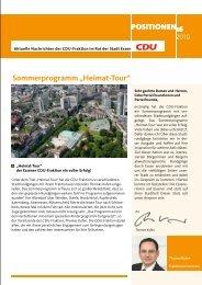 """Sommerprogramm """"Heimat-Tour"""" - CDU Fraktion Essen"""