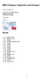 MSC Fantasia: Caipirinha und Campari Route - Kreuzfahrtprofi.at