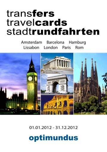 transfers travelcards stadtrundfahrten