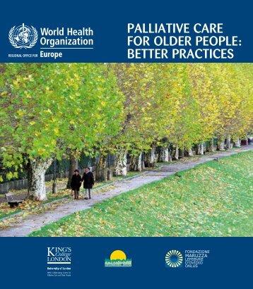 Palliative care for older people - World Health Organization ...