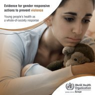 Evidence for gender responsive actions to prevent violence