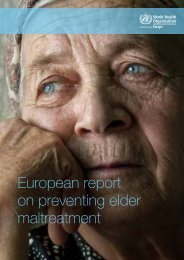 European report on preventing elder maltreatment - World Health ...