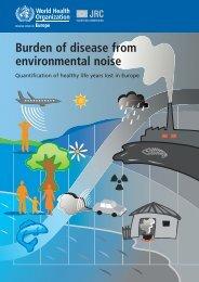 Burden of disease from environmental noise - World Health ...