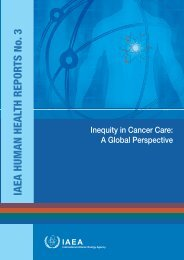 Inequity in cancer care : a global perspective - IAEA Publications