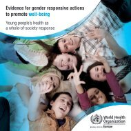 Evidence for gender responsive actions to promote well-being
