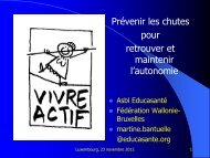 Le système de prévention des chutes chez les seniors en Région ...